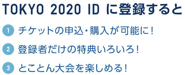 TOKYO2020のID登録特典