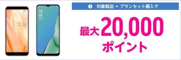楽天モバイル20000円還元