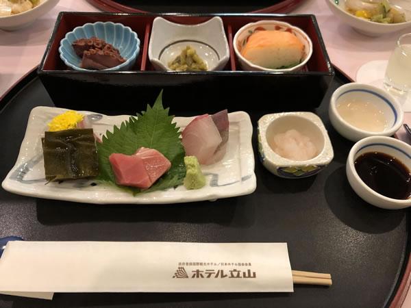 和食堂たてやまの夕食