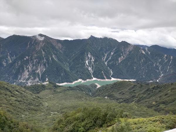 ロープウェイから見た黒部湖